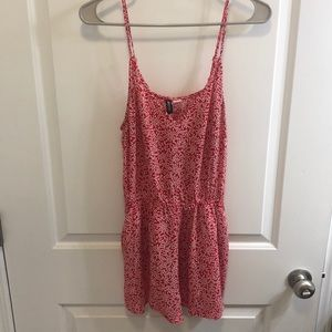 H&M Patterned Red Romper